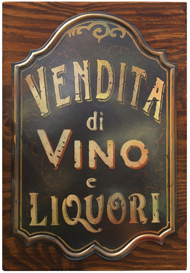 Targa Vintage Vendita Vino e Liquori 45x65