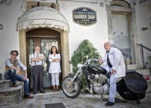 Insegna per Parrucchiere Scapicchio di Bovino provincia di Foggia realizzata da Insegne Antiche