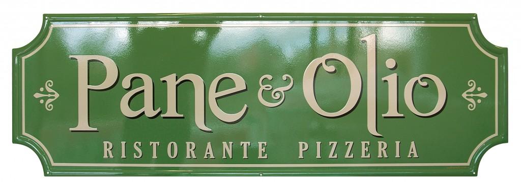 """Insegne per il Ristorante """"Pane & Olio"""""""