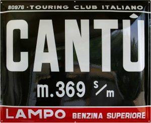 Targa Touring Club Italiano di Cantù realizzata da Insegne Antiche