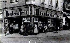 Drogheria Testa - Viale Coni Zugna angolo corso Cristoforo Colombo - anni '50
