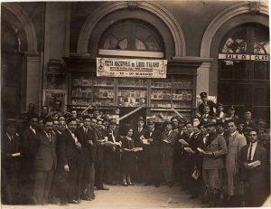 Festa Nazionale del libro Italiano 1927 - Edicola della stazione ferroviaria, Bari