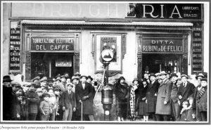 Inaugurazione della prima pompa di benzina - Frascati - 18 Dicembre 1924