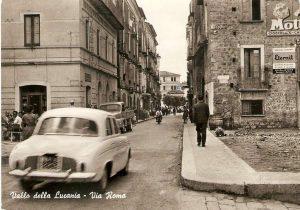 Pubblicità Eternit - Via Roma,Vallo della Lucania - anni '60