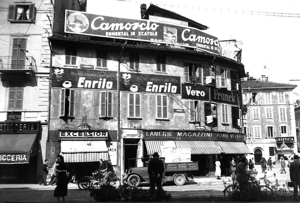 Insegne varie - Camoscio, Caffè Excelsior, Lanerie