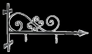 Staffa voluta per insegne antiche