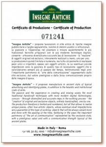 Certificato-Insegne-Antiche