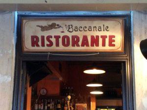 """Insegna Trattoria """"Baccanale"""""""