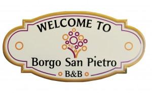 """Insegna per il B&B """"Borgo San Pietro"""""""