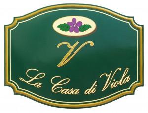 "Insegna per la Boutique Regali ""La Casa Viola"""