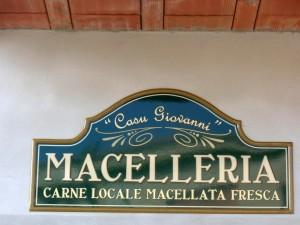 """Insegna per la Macelleria """"Casu Giovanni"""""""