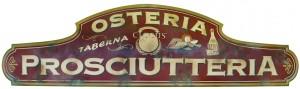 "Insegna per l'Osteria ""Ciccus"" a Brescia"