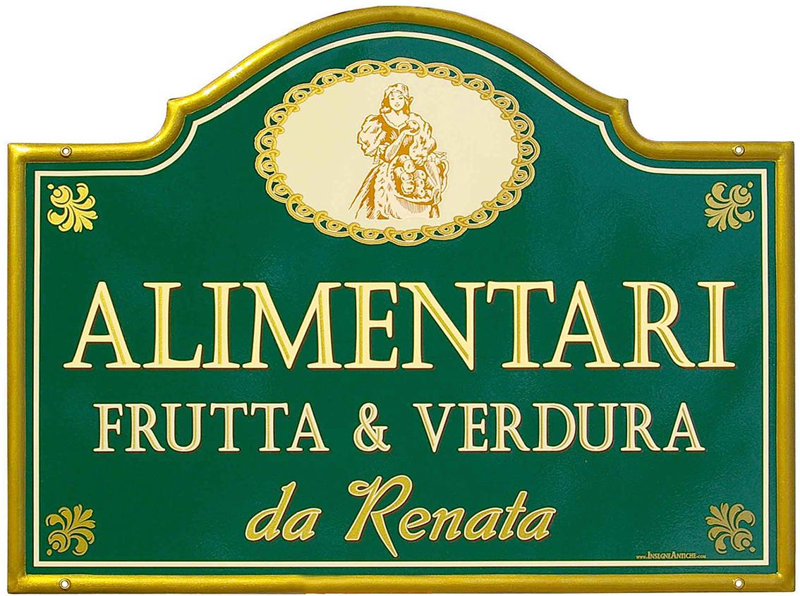 """Molto Insegna per l'Alimentari Frutta e Verdura """"da Renata"""" – Accademia  WC42"""