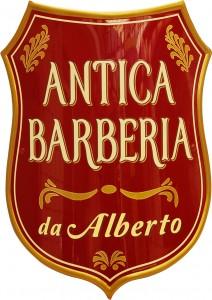 """Insegna-Stemma per l'Antica Barberia """"da Alberto"""""""