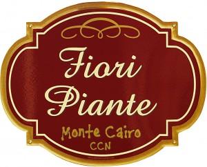 Insegna per il Negozio di Fiori e Piante del CCN di Monte Cairo