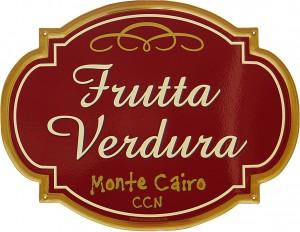 Insegna per il Negozio di Frutta e Verdura del CCN di Monte Cairo
