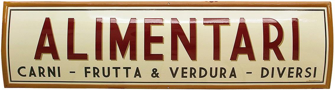 """Famoso Insegne per l'Alimentari """"La Bottega"""" – Accademia delle Insegne d  DM02"""