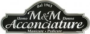 "Insegna per Acconciature Uomo Donna ""M&M"" - Manicure Pedicure"