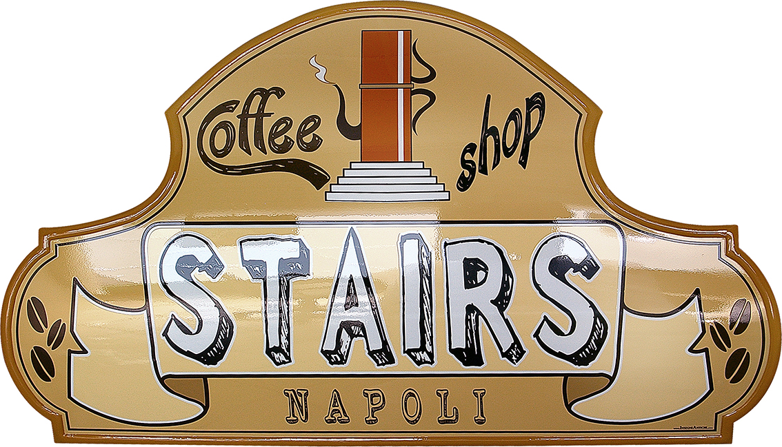 Insegna per Coffee Shop Stairs