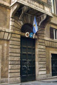 stemma per ambasciata argentina prodotto da insegne antiche