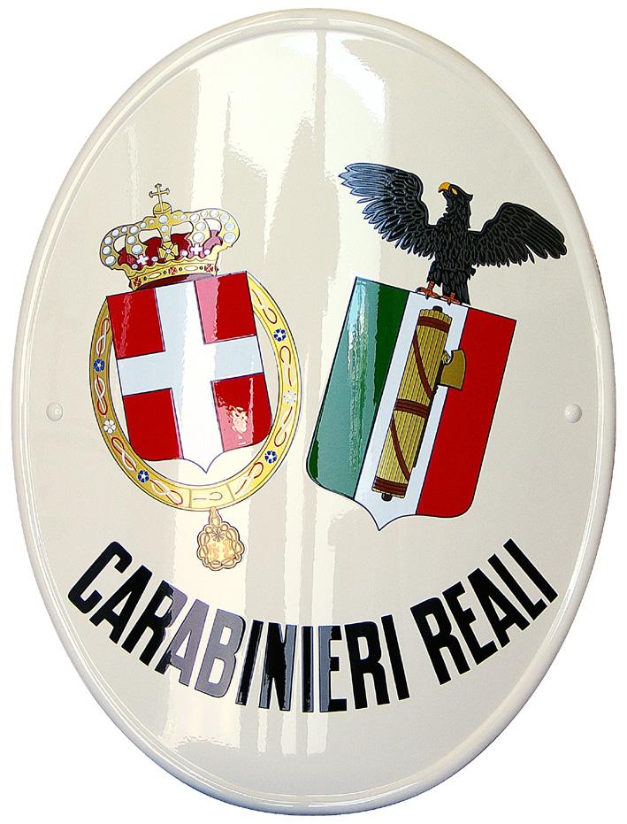 "Stemma istituzionale dei ""Carabinieri Reali"" vintage"