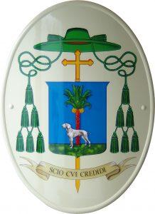 stemma vescovile di antonio suetta prodotto da insegne antiche