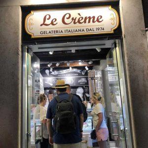 insegna per gelateria di roma le crème realizzata da insegne antiche