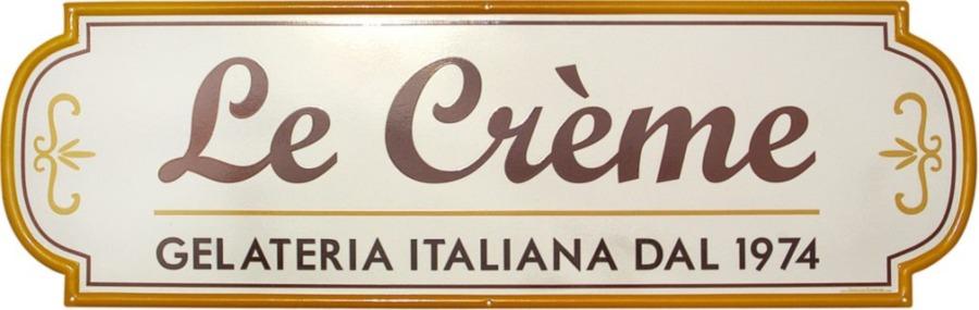 insegna per gelateria di roma le crème prodotta da insegne antiche