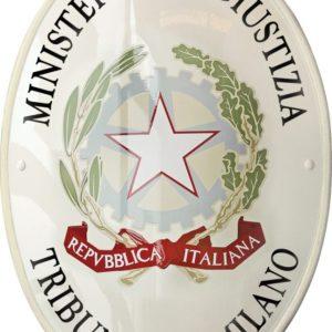 Araldica civica stemma tribunale di milano realizzato da insegne antiche
