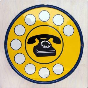 insegna telefono vintage prodotta da insegne antiche
