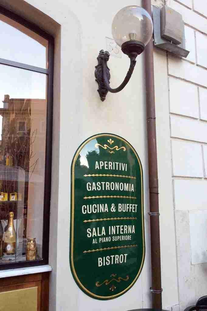 insegna a parete vintage per ristorante prodotta da insegne antiche