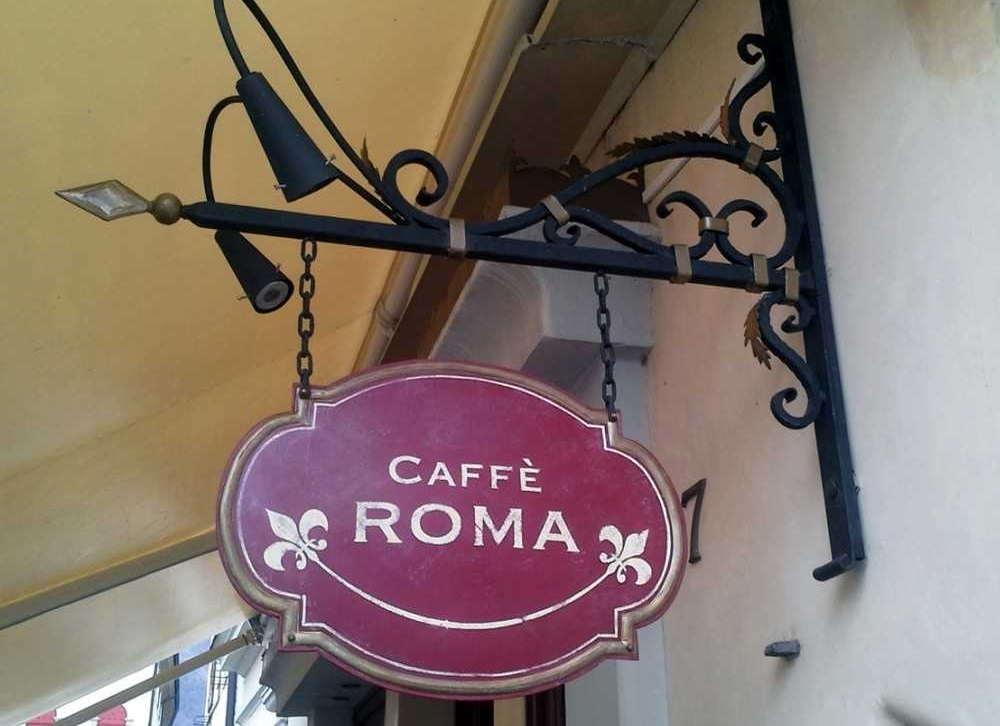 Insegna Anticata per caffetteria prodotta da Insegne Antiche