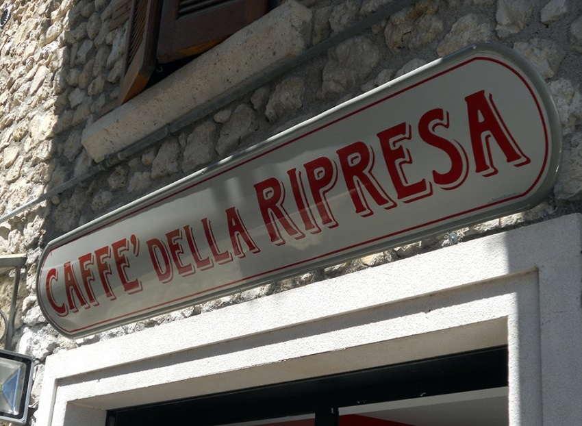 insegna sopra-vetrina per bar e caffetteria prodotta da insegne antiche