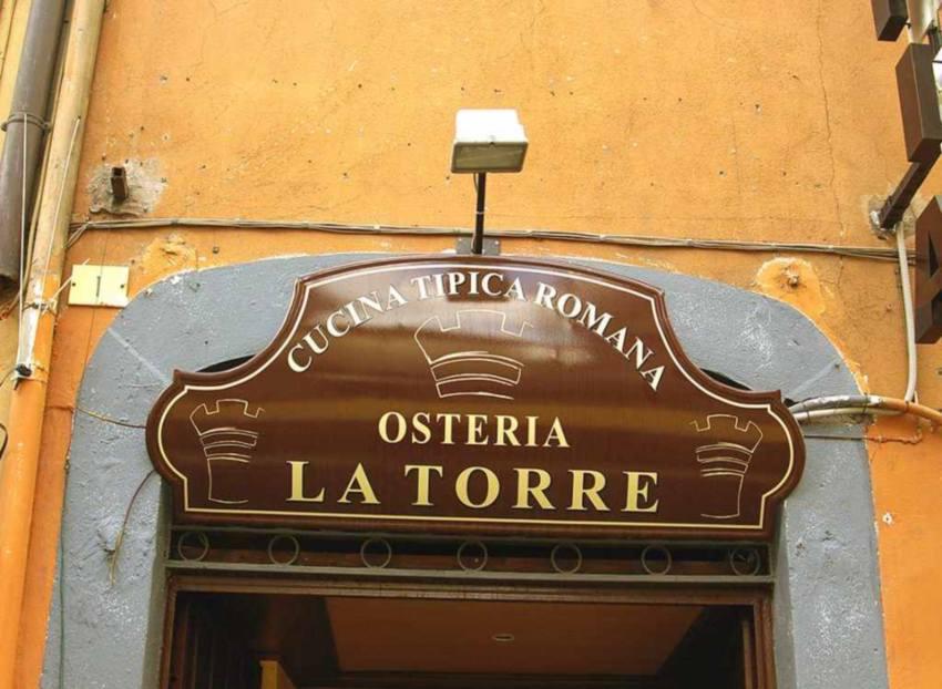 Insegna Sopra-vetrina per Osteria prodotta da Insegne Antiche