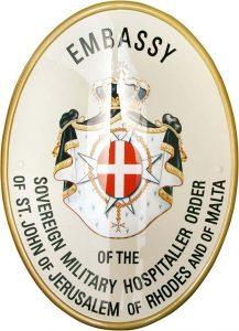 stemma per ambasciata ordine di malta prodotto da insegne antiche