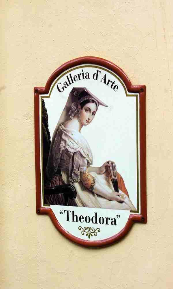targhe personalizzate per galleria d'arte prodotta da insegne antiche