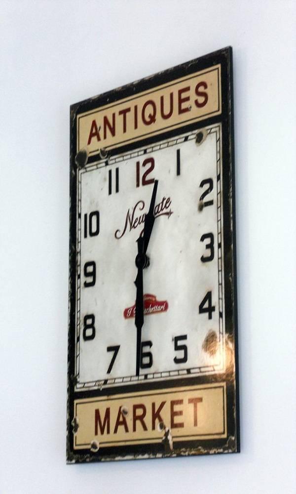 targa personalizzata con orologio per ristorante prodotta da insegne antiche