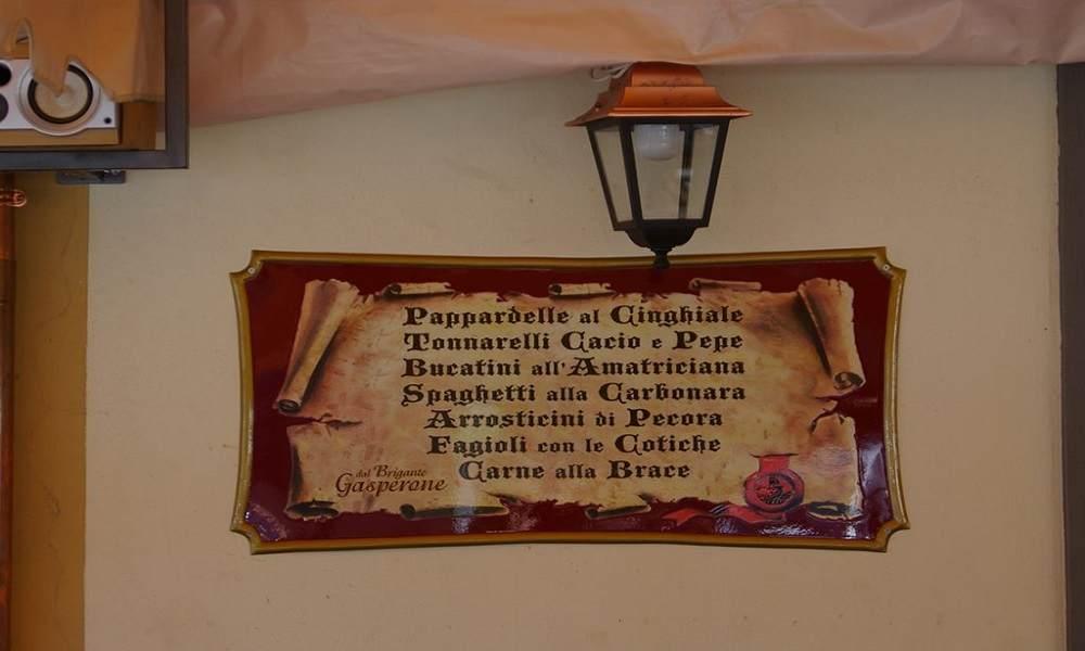 targa personalizzata per osteria prodotta da insegne antiche