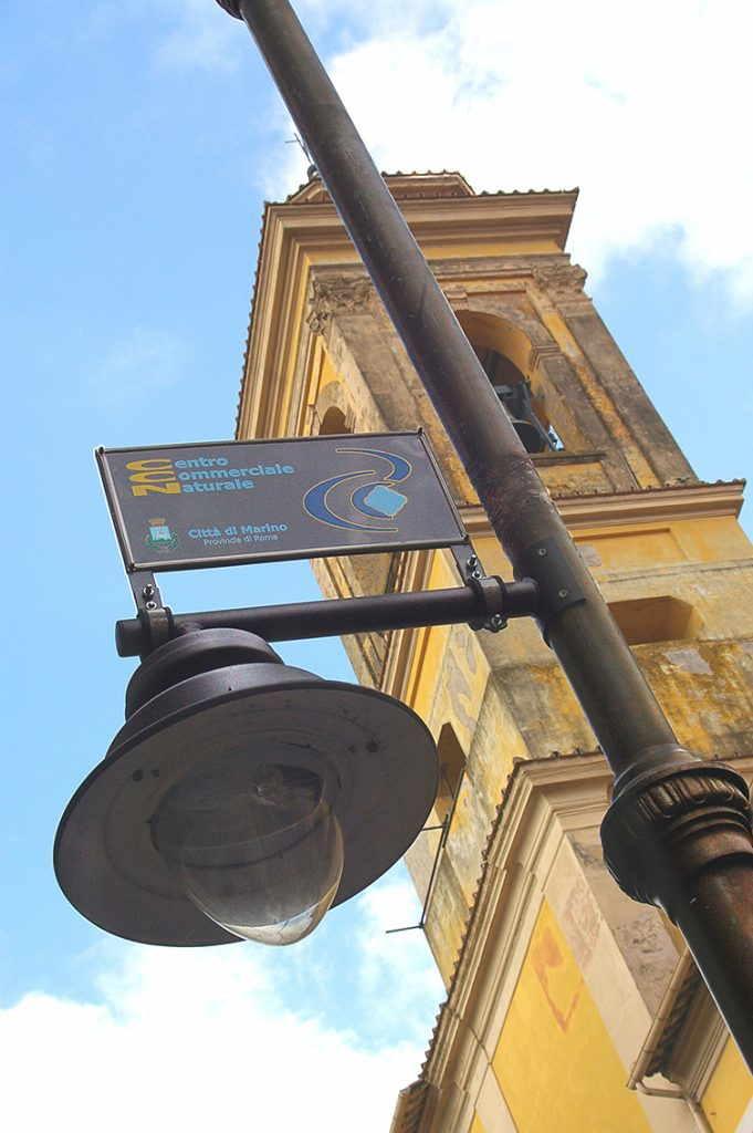 targa segnaletica comunale prodotta da insegne antiche