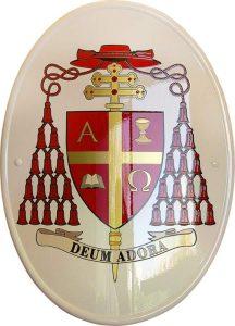 stemma cardinalizio per Thomas Collins prodotto da Insegne Antiche